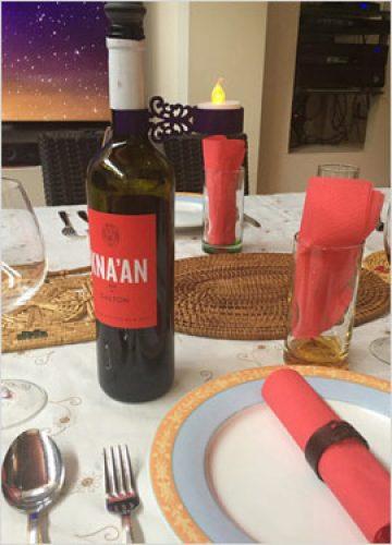 פמוט לבקבוקי יין